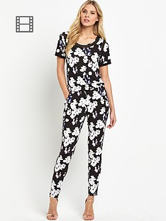 south-petite-printed-short-sleeved-jumpsuit
