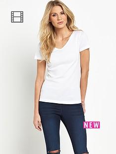 savoir-short-sleeved-v-neck-rib-t-shirt
