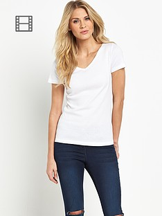 south-short-sleeved-v-neck-rib-t-shirt