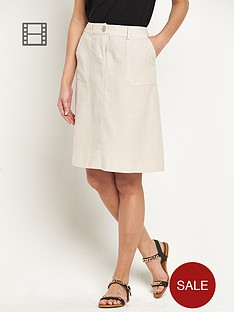 south-linen-knee-length-skirt