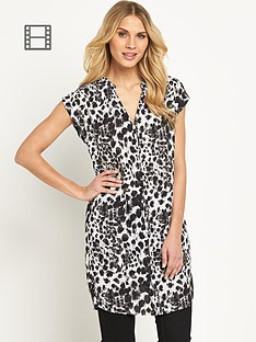 savoir-animal-printed-tunic-dress
