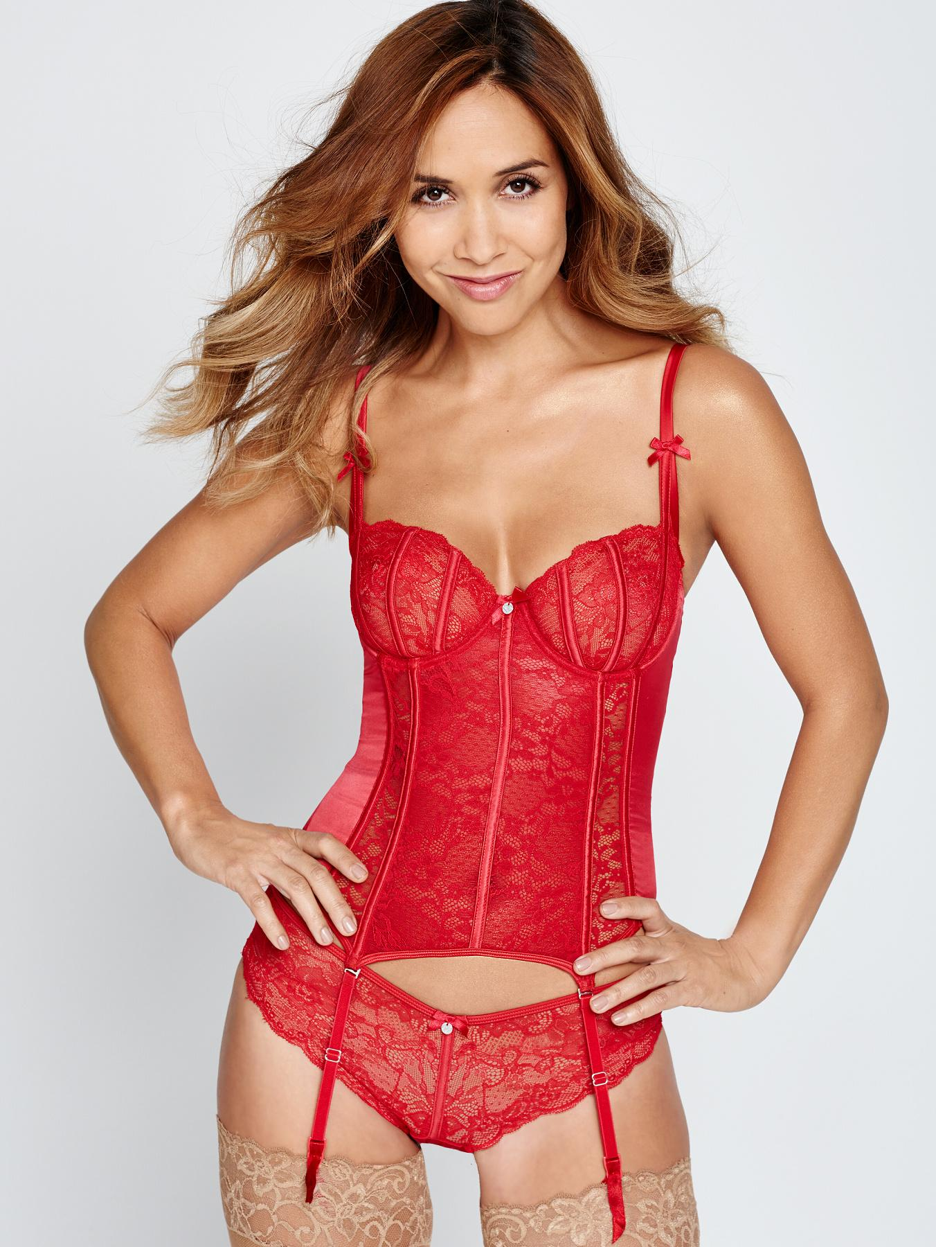 Myleene Klass Lace Briefs - Red, Red