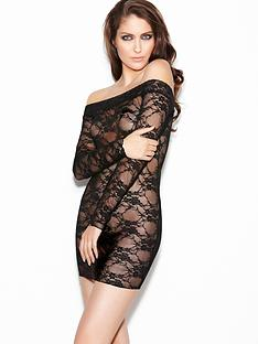 ann-summers-britney-off-shoulder-lace-dress-black