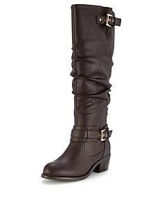 shoe-box-tegan-double-buckle-mid-heel-calf-boots
