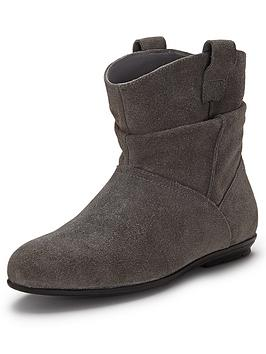 shoe box suede flat ankle boots grey co uk