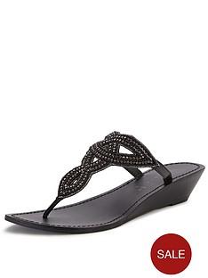 shoe-box-britney-toe-post-embellished-leather-wedge-sandals