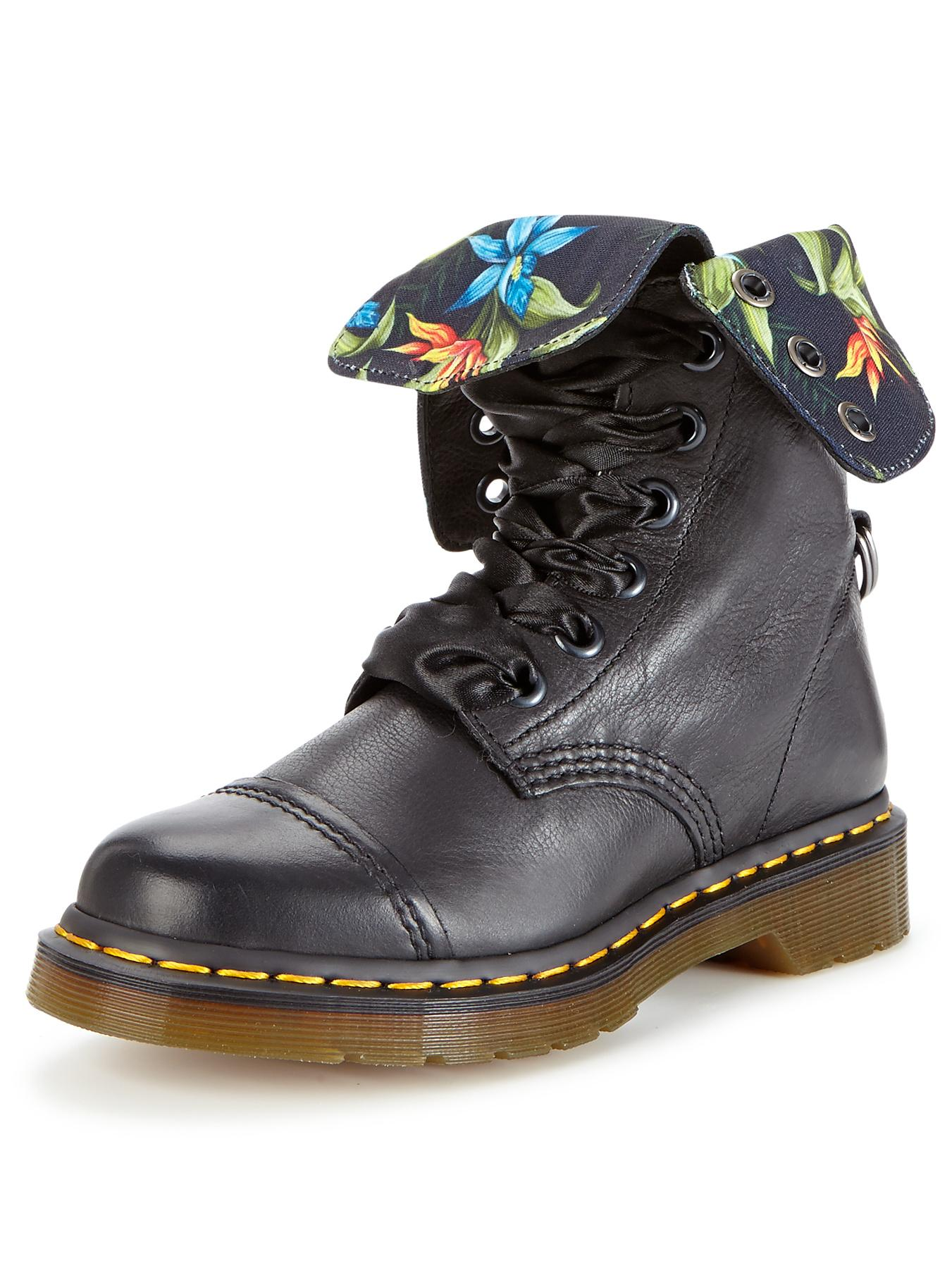 Dr Martens Aimilita Fold Up or Down Boots - Black, Black at Very, from Littlewoods