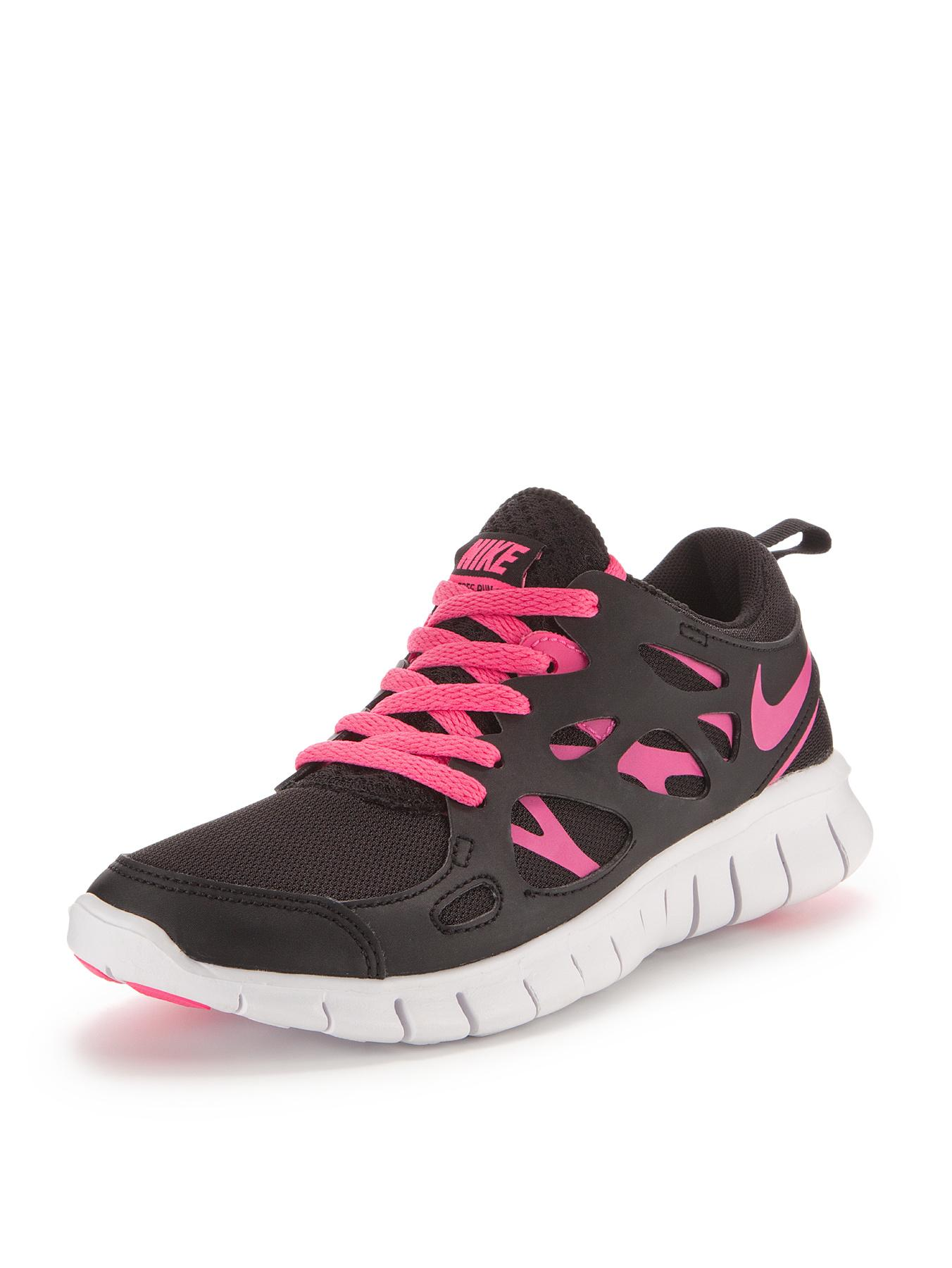 Nike FREE Run 2 Junior Trainers - Black, Black