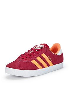 adidas-originals-gazelle-junior-girls-trainers-pinkorange