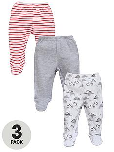 ladybird-baby-unisex-bottoms-with-feet-3-pack
