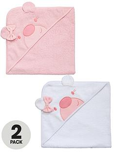 ladybird-baby-girls-hooded-towels-2-pack