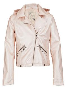 freespirit-girls-metallic-pu-biker-jacket-with-detachable-hood-and-studs