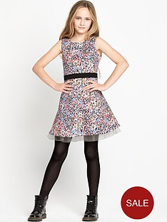 freespirit-girls-floral-and-animal-print-fit-and-flare-dress-with-cross-back