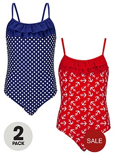 freespirit-girls-spot-and-anchor-swimsuits-2-pack