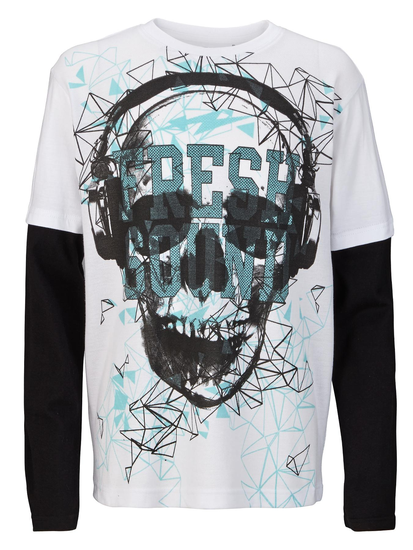 Demo Long Sleeve Geo Skull with Airtex Panel - White, White
