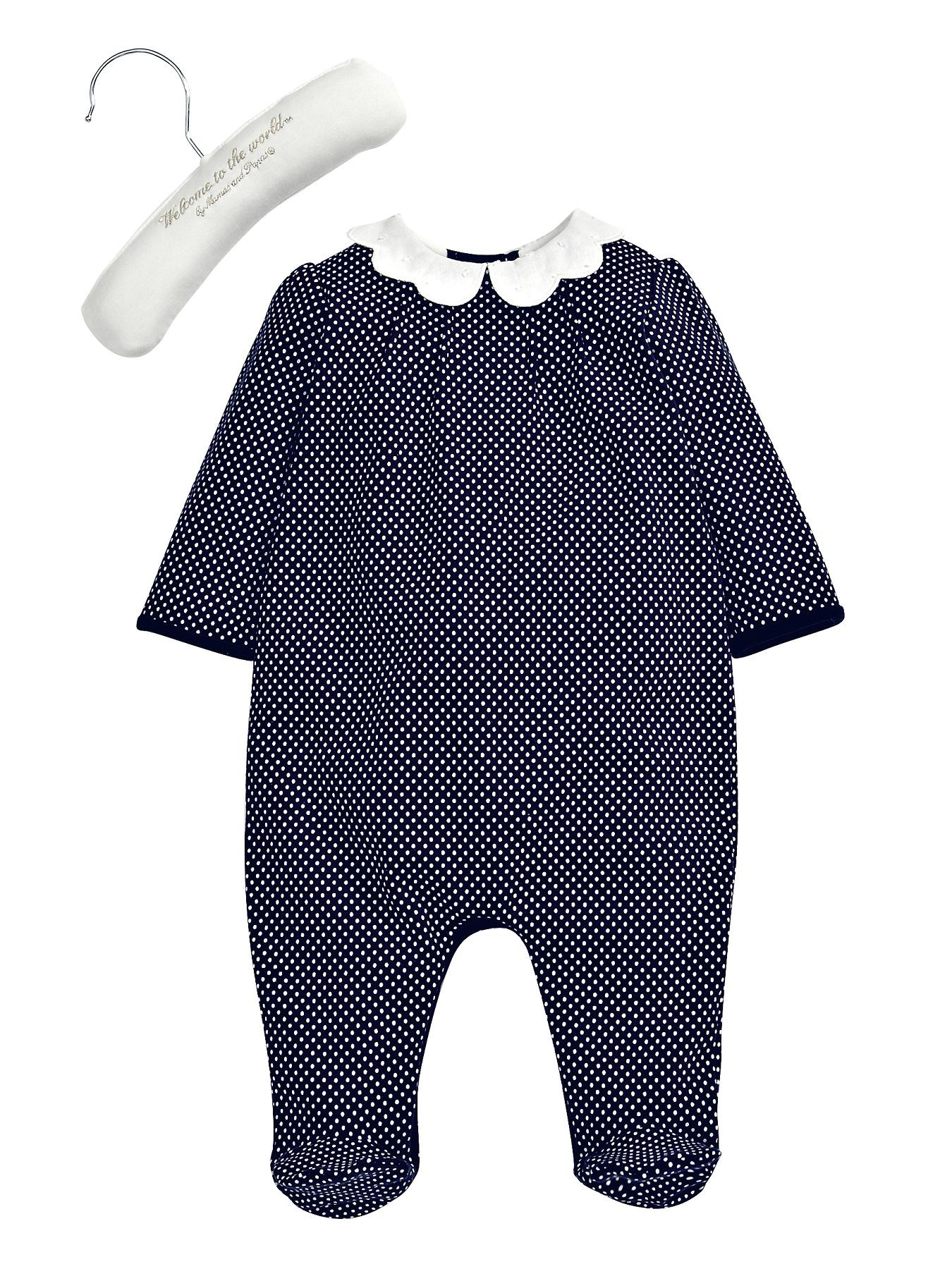 Mamas & Papas Scallop Bib All-in-One - Navy, Navy