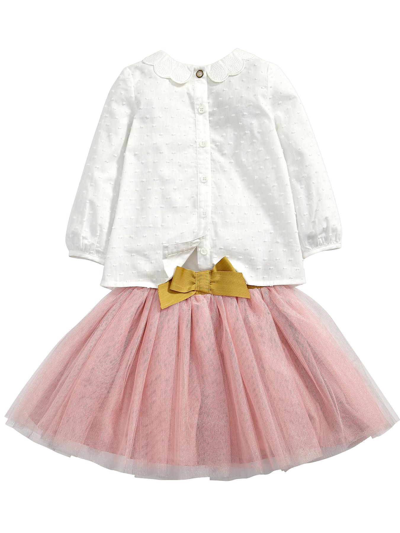 Mamas & Papas Blouse and Tutu Set - Cream, Cream