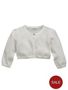 ladybird-girls-crop-sleeve-shrug-lurex-cardigan