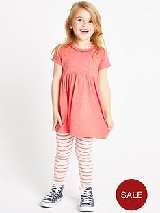 ladybird-girls-jersey-dress-and-stripe-leggings-set