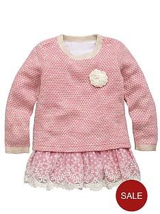 ladybird-girls-pink-knit-and-crochet-jumper