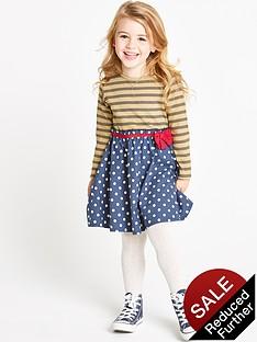 ladybird-girls-woven-stripe-spot-dress