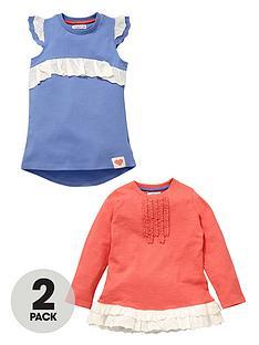 ladybird-girls-broderie-trim-t-shirts-2-pack