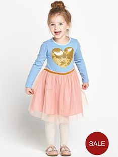 ladybird-girls-jersey-sequin-heart-tutu-dress