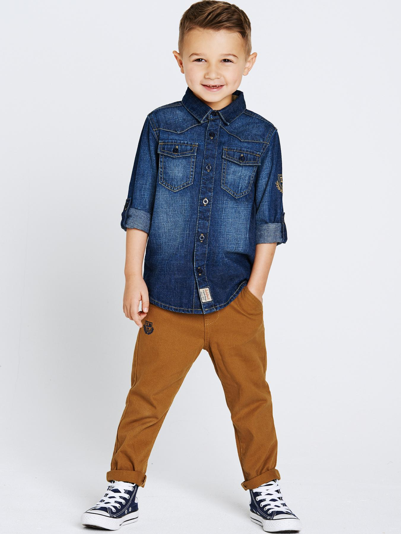 Ladybird Boys Denim Shirt and Chinos Set