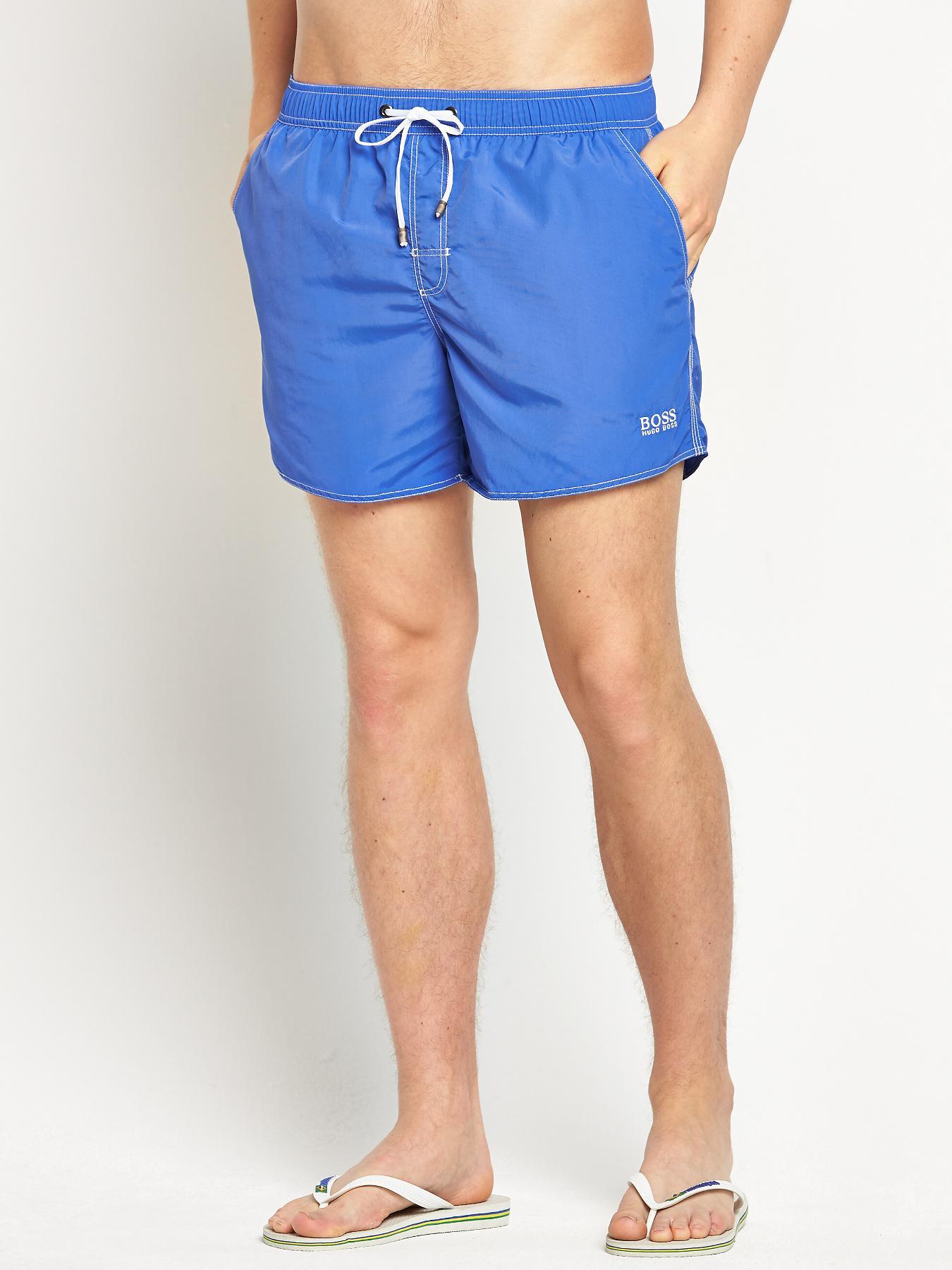 Hugo Boss Mens Lobster Swim Shorts - Blue - Blue, Blue