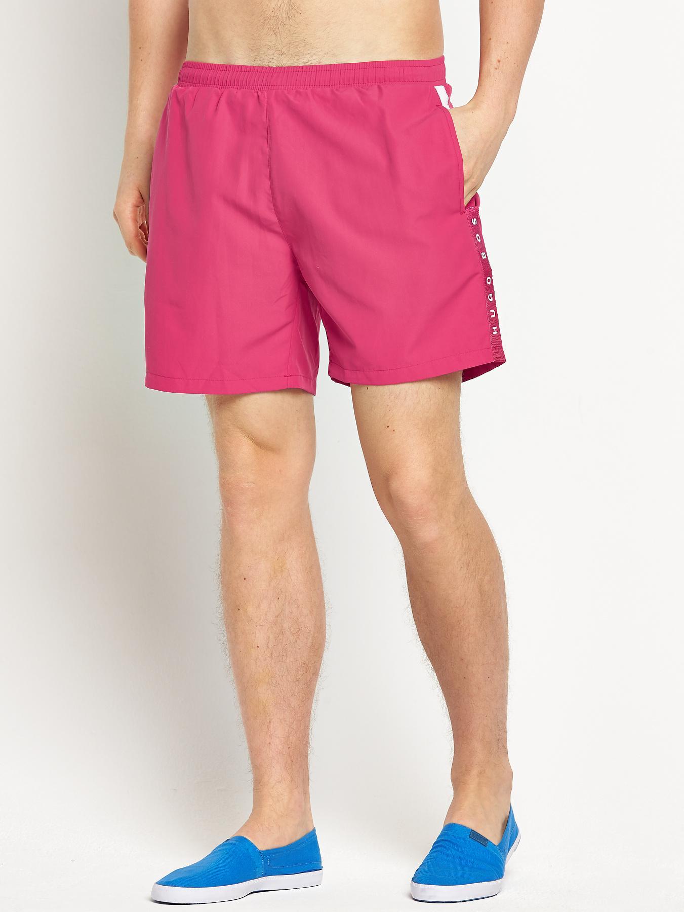 Hugo Boss Mens Seabream Swim Shorts - Red - Red, Red