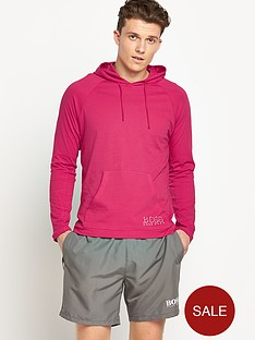 hugo-boss-mens-single-jersey-hooded-top-red