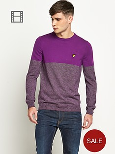 lyle-scott-mens-long-sleeve-crew-neck-mouline-colour-block-jumper