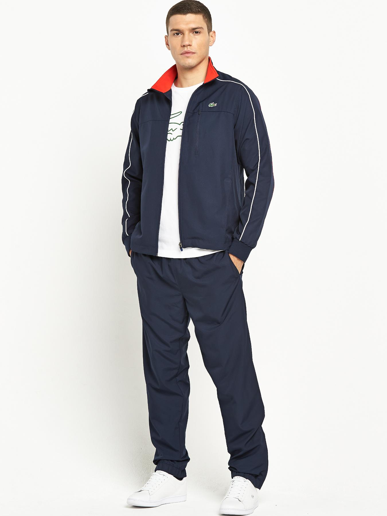Lacoste Mens Tracksuit - Navy, Navy