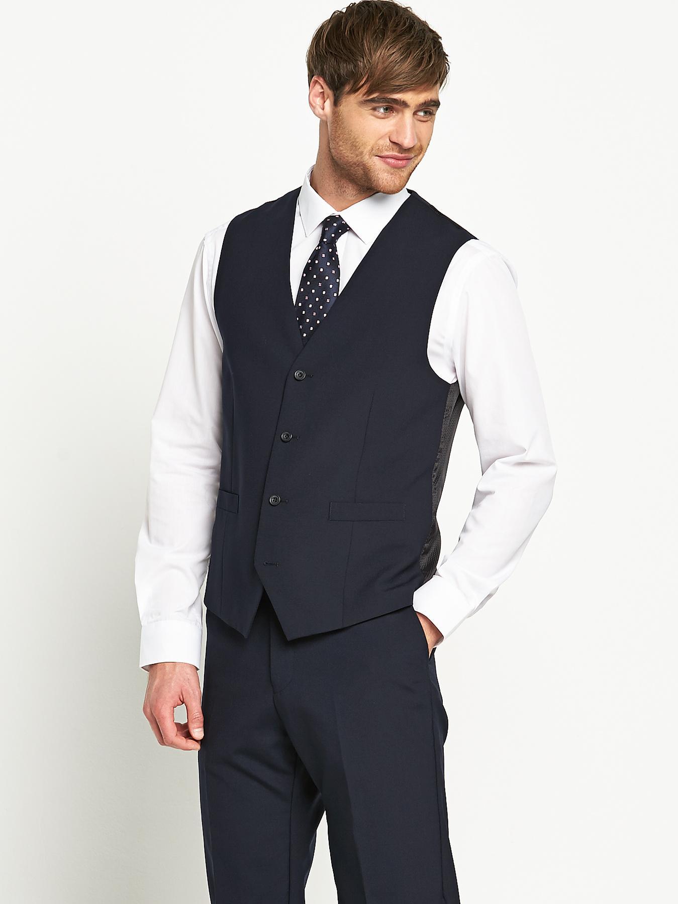 Skopes Mens Otis Suit Waistcoat - Navy - Navy, Navy