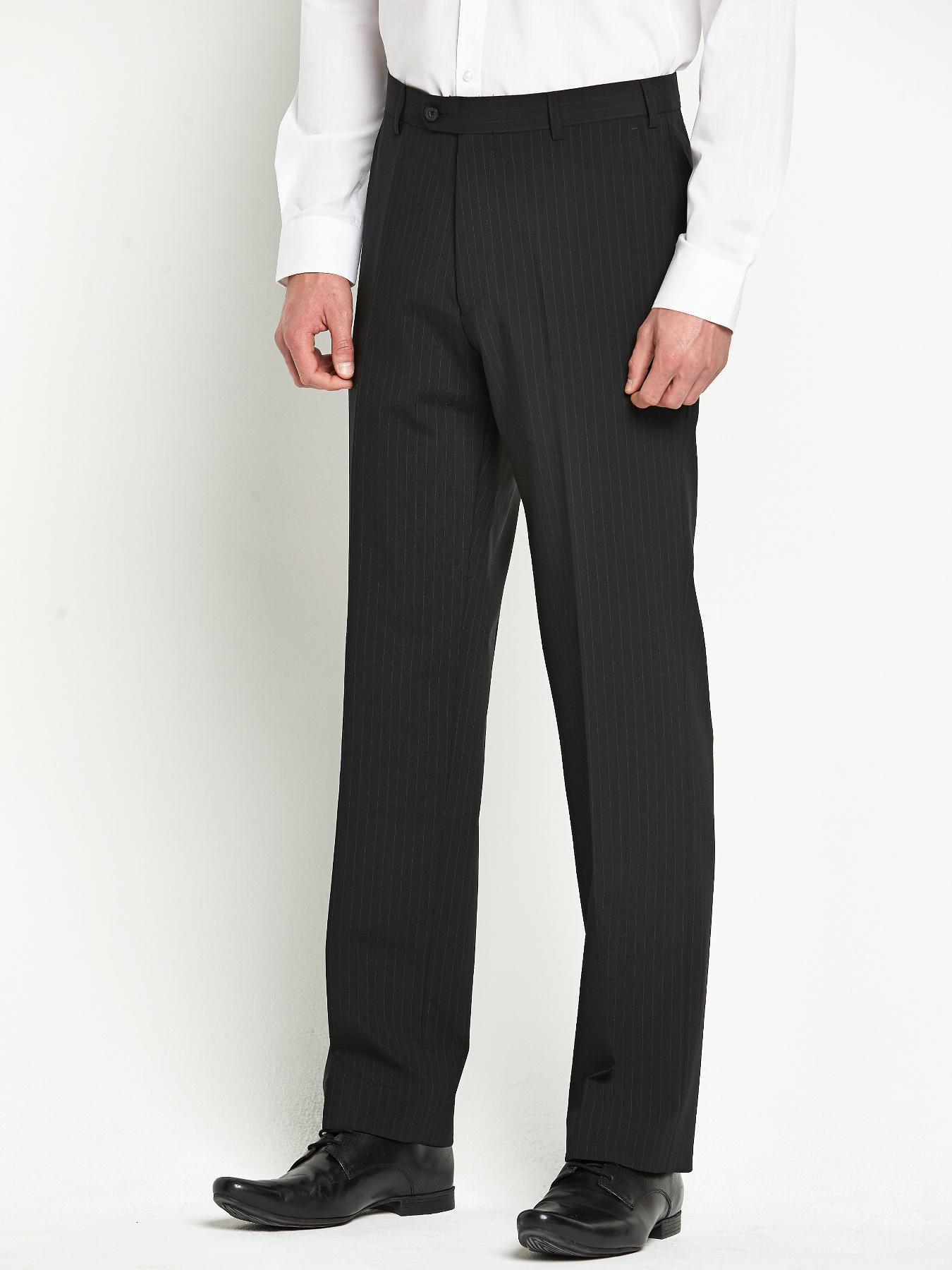 Skopes Mens Ohio Suit Trousers - Black Stripe - Black, Black