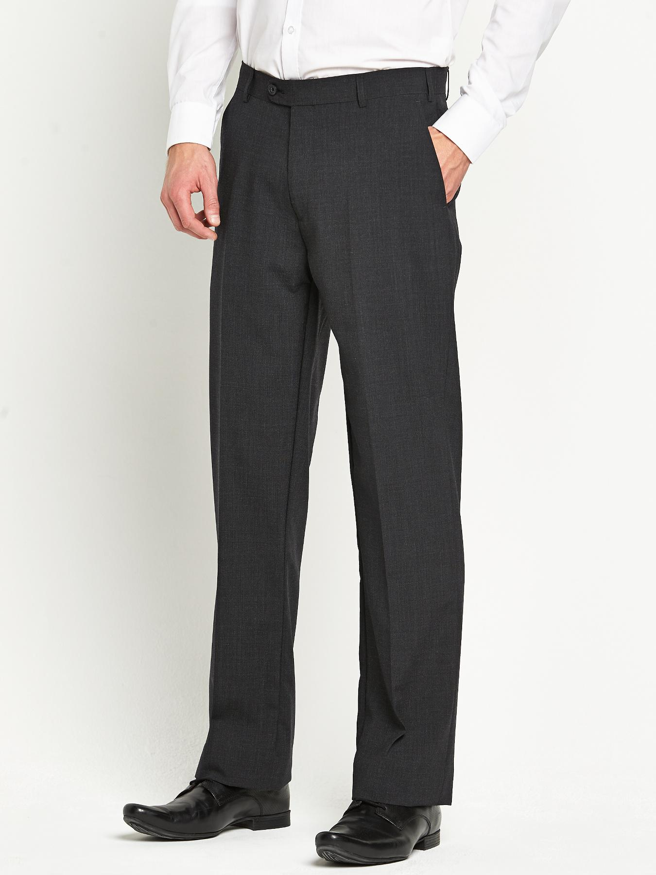 Skopes Mens Ohio Suit Trousers - Charcoal - Charcoal, Charcoal