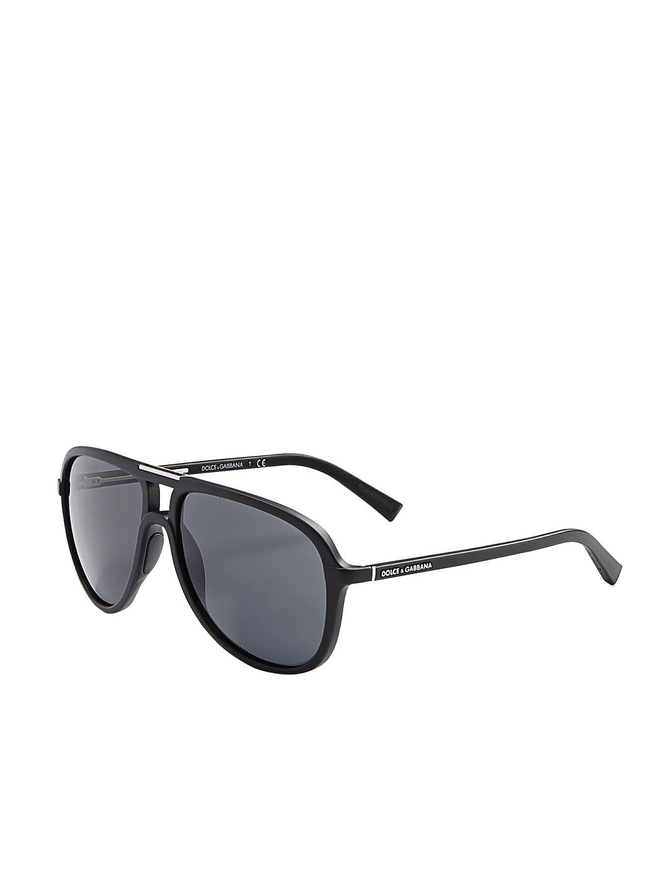 Dolce & Gabbana Aviator Sunglasses - Black - Black, Black