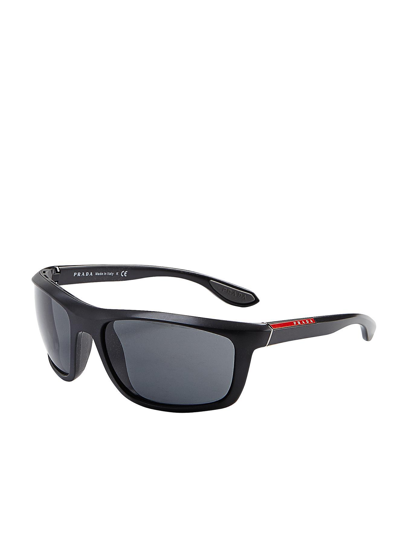 Prada Sport Wraparound Sunglasses - Black - Black, Black