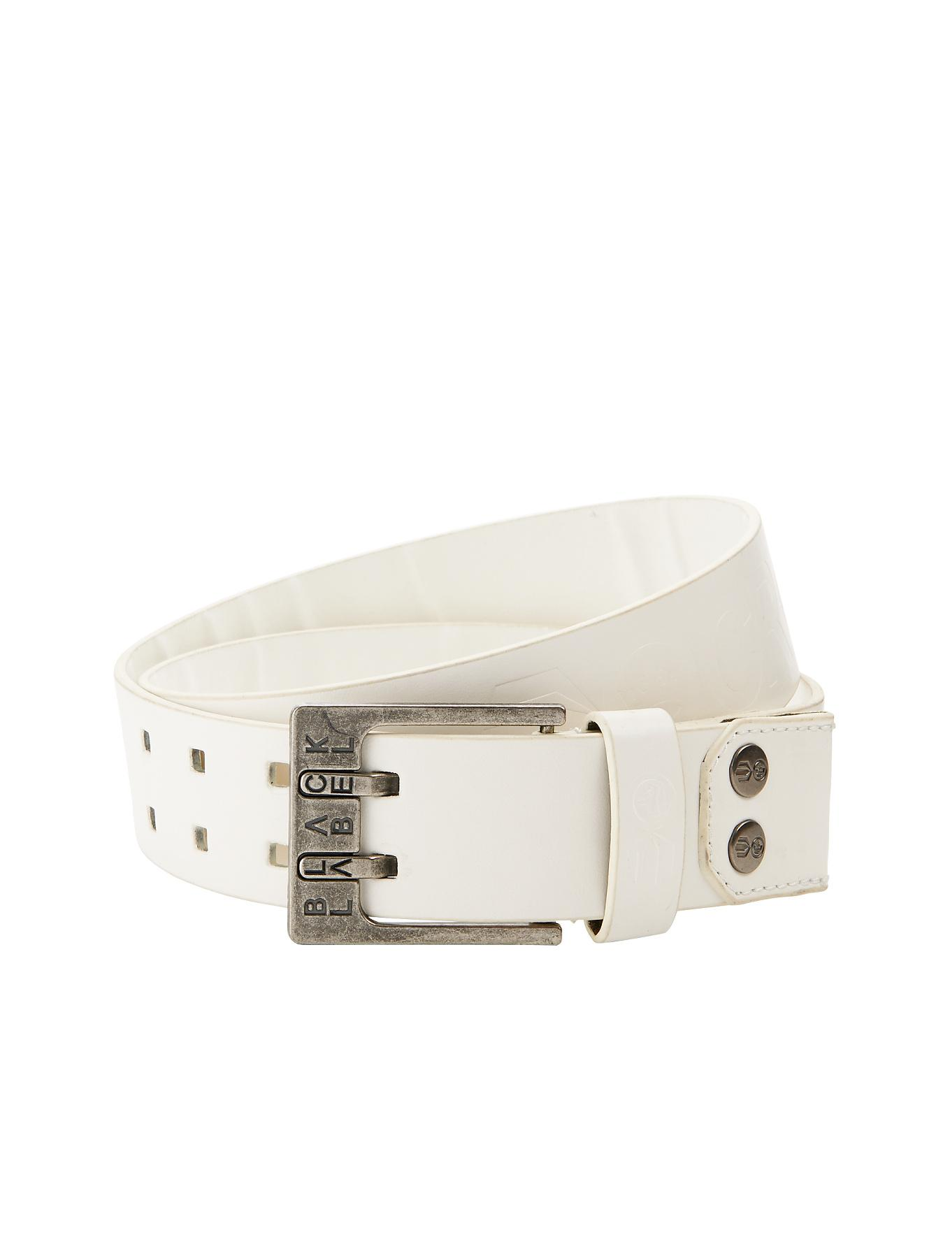 Crosshatch Mens Belt - White, White