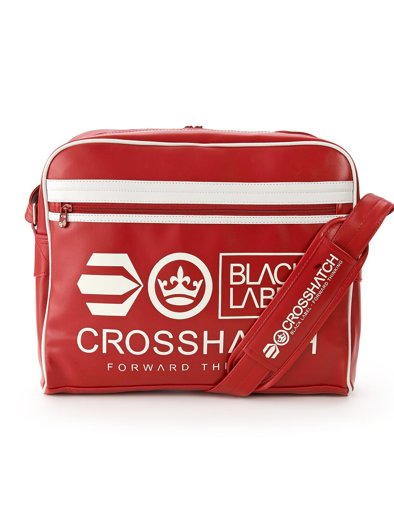 Crosshatch Mens Messenger Bag - Red, Red