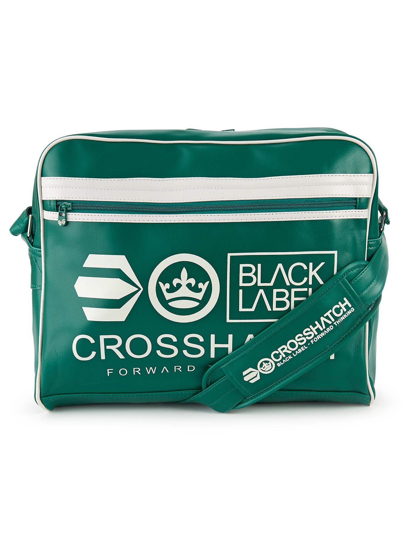 Crosshatch Mens Messenger Bag - Green, Green