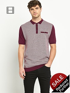 goodsouls-mens-short-sleeve-jacquard-polo-shirt