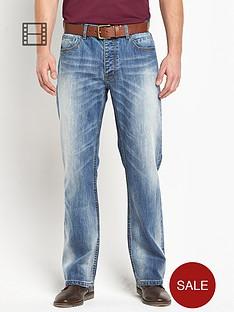 goodsouls-mens-belted-loose-fit-light-vintage-wash-jeans