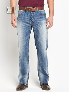 goodsouls-mens-belted-loose-fit-light-vintage-wash-jeans