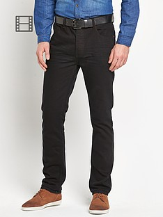 goodsouls-mens-belted-slim-fit-black-jeans