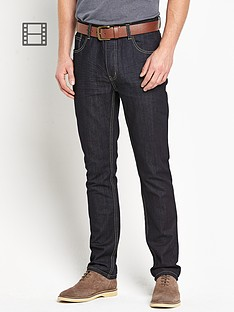 goodsouls-mens-belted-slim-fit-indigo-jeans
