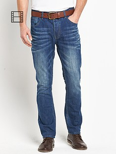 goodsouls-mens-belted-slim-fit-mid-blue-wash-jeans