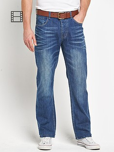 goodsouls-mens-belted-straight-fit-mid-blue-wash-jeans