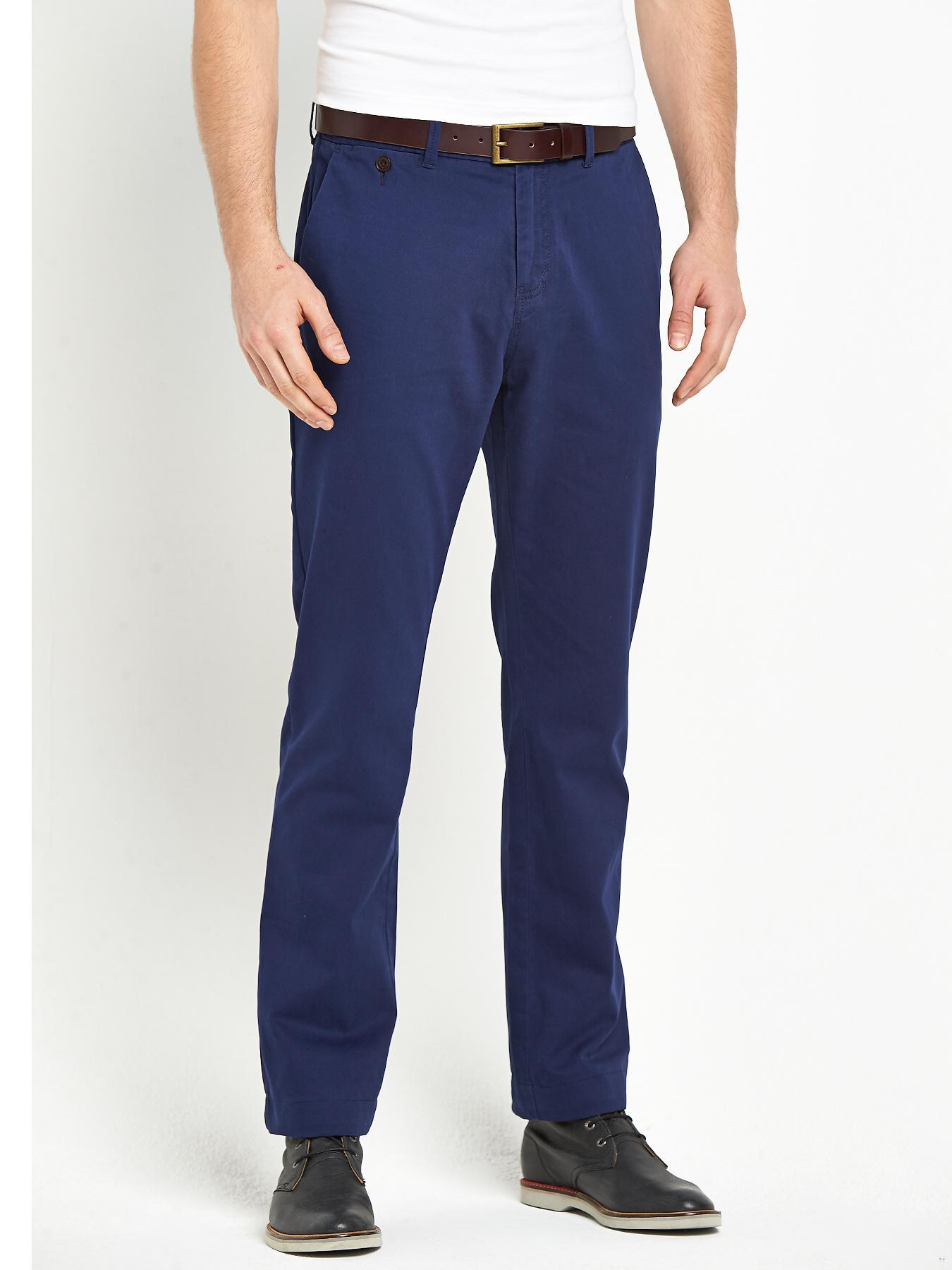 Goodsouls Mens Premium Occasionwear Chinos - Navy, Navy