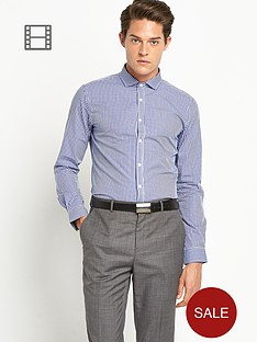 taylor-reece-mens-micro-gingham-check-shirt-navy